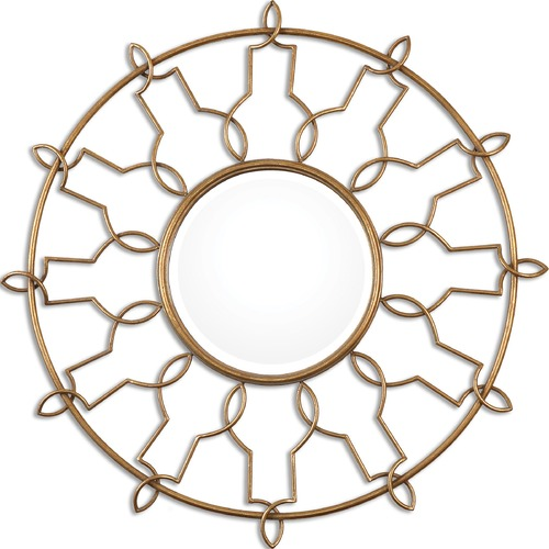 Uttermost Lighting Uttermost Kensa Round Gold Mirror 08140