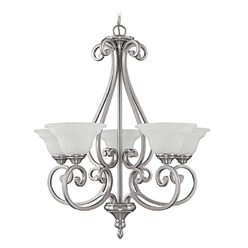 Capital Lighting Capital Lighting Chandler Matte Nickel Chandelier 3075MN-222