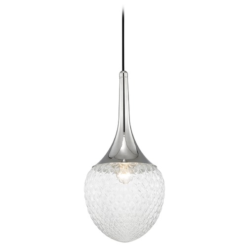 Mitzi by Hudson Valley Mid-Century Modern Pendant Light Polished Nickel Mitzi Bella by Hudson Valley H114701B-PN