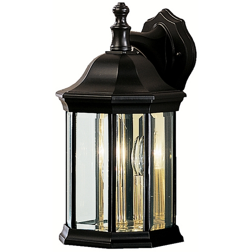 Kichler Lighting Kichler Modern Outdoor Wall Light with Clear Glass in Black Finish 9777BK