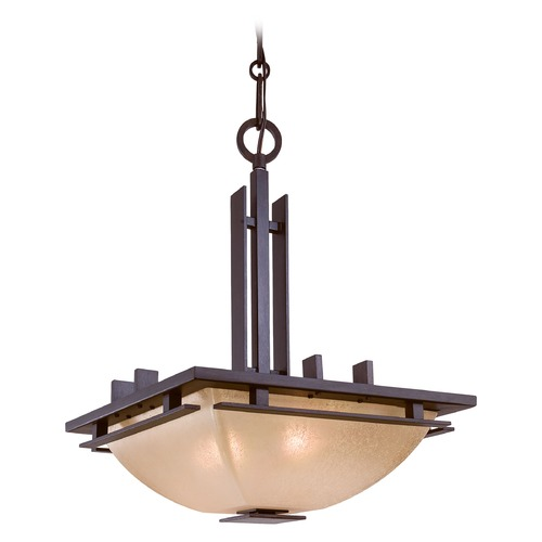 Minka Lighting Pendant with Scavo-Glass Shade Light 1275-357