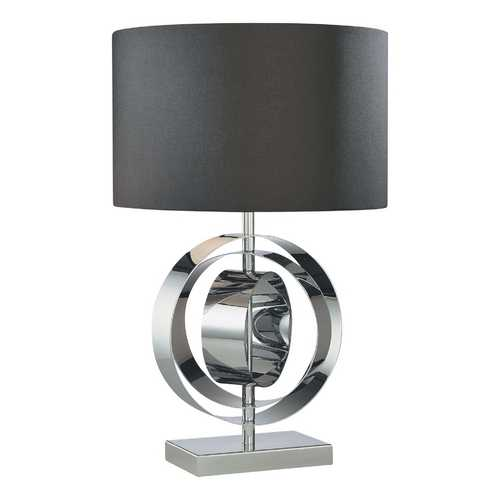 George Kovacs Lighting Modern Table Lamp with Black Shade in Chrome Finish P745-077