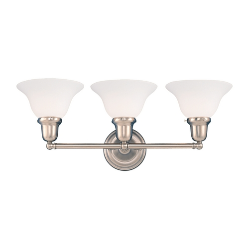 Hudson Valley Lighting Bathroom Light with White Glass in Old Bronze Finish 583-OB-415