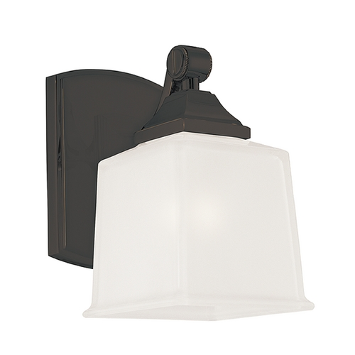 Hudson Valley Lighting Modern Sconce with White Glass in Old Bronze Finish 2241-OB