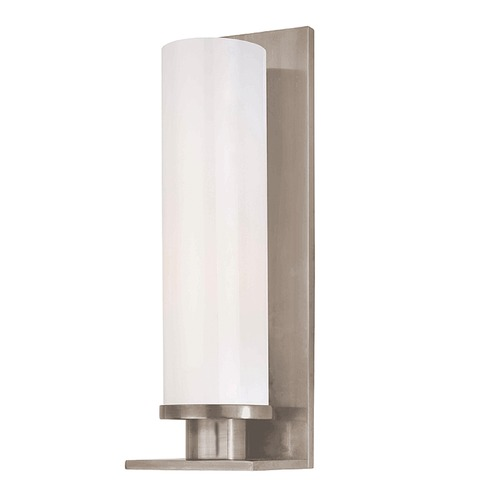 Hudson Valley Lighting Modern Sconce with White Glass in Polished Chrome Finish 420-SN