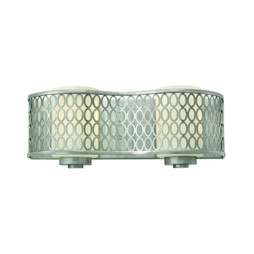 Hinkley Lighting Modern Bathroom Light with White Glass in Brushed Nickel Finish 53242BN