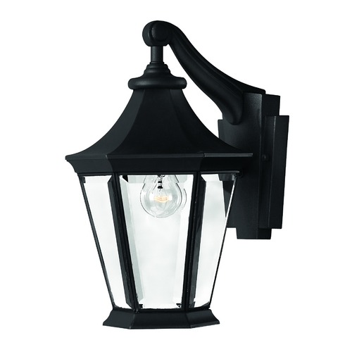 Hinkley Lighting Outdoor Wall Light with Clear Glass in Black Finish 2500BK