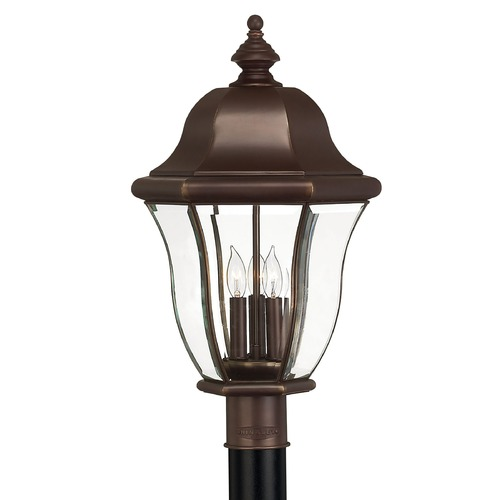 Hinkley Lighting Post Light with Clear Glass in Copper Bronze Finish 2331CB