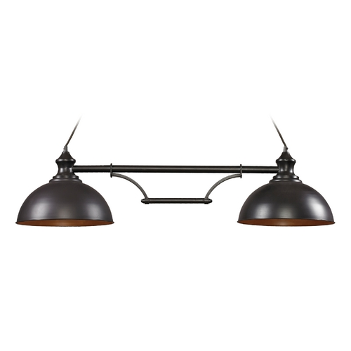 Elk Lighting Island Light in Oiled Bronze Finish - 2 Lights 65150-2