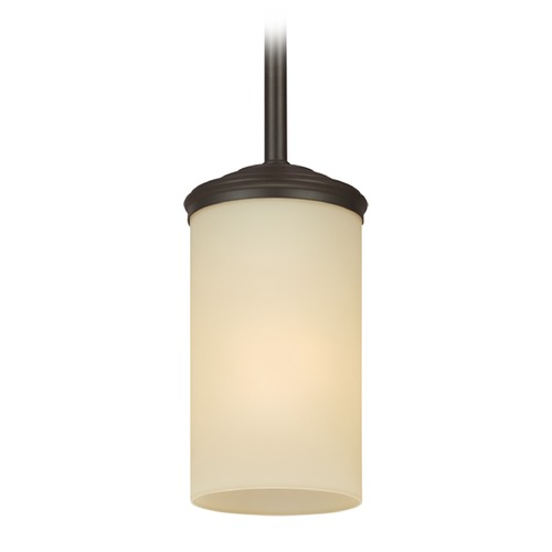 Sea Gull Lighting Sea Gull Lighting Sfera Autumn Bronze Mini-Pendant Light with Cylindrical Shade 6190401BLE-715