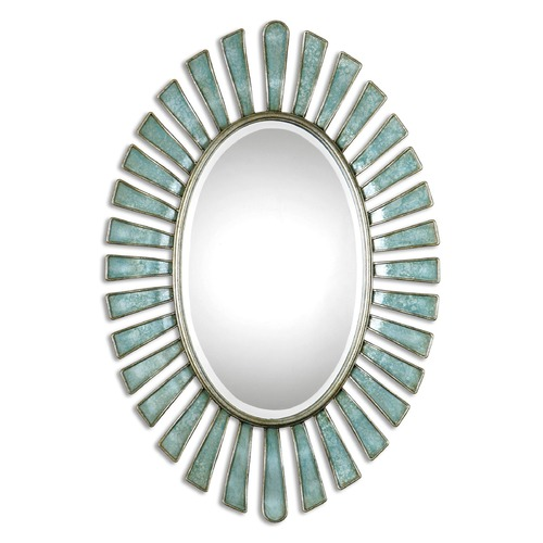 Uttermost Lighting Uttermost Morvoren Blue-Gray Oval Mirror 08141