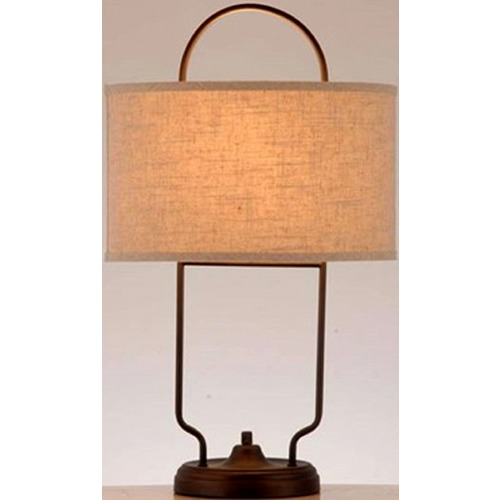 Lite Source Lighting Lite Source Baldwin Dark Bronze Table Lamp with Oval Shade LS-22705
