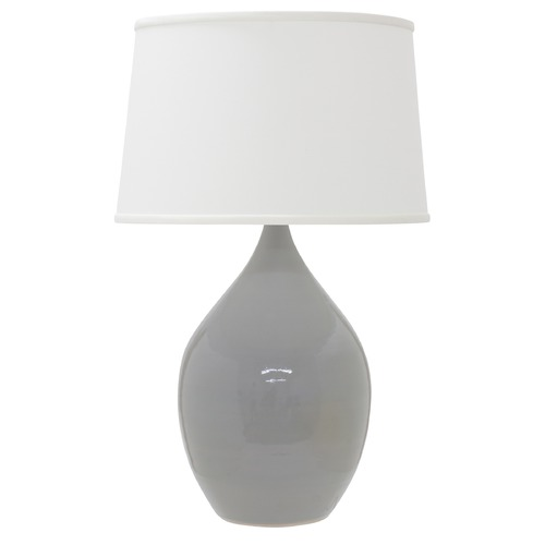 House of Troy Lighting House Of Troy Scatchard Gray Gloss Table Lamp with Empire Shade GS202-GG