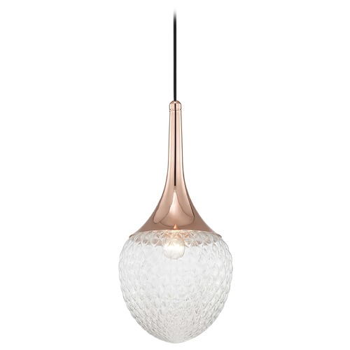 Hudson Valley Lighting Mid-Century Modern Pendant Light Copper Mitzi Bella by Hudson Valley Lighting H114701B-POC