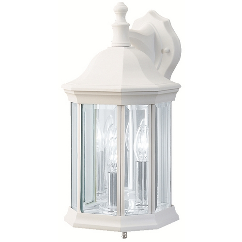 Kichler Lighting Kichler Modern Outdoor Wall Light with Clear Glass in White Finish 9777WH