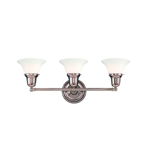 Hudson Valley Lighting Bathroom Light with White Glass in Old Bronze Finish 583-OB-415M