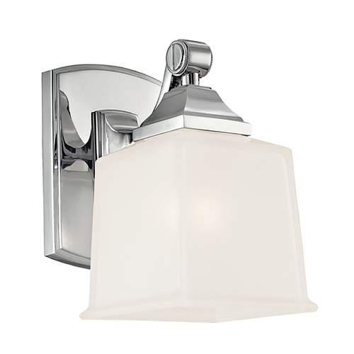 Hudson Valley Lighting Modern Sconce with White Glass in Polished Chrome Finish 2241-PC