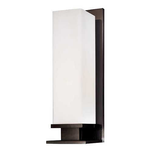 Hudson Valley Lighting Modern Sconce with White Glass in Old Bronze Finish 520-OB