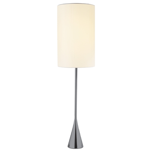 Adesso Home Lighting Modern Table Lamp with White Shade in Chrome Finish 4028-01