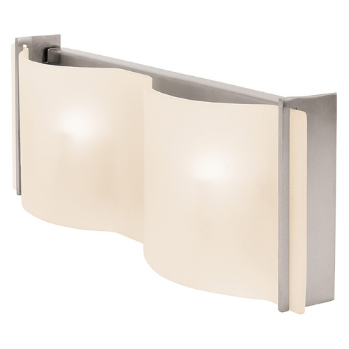 Access Lighting Modern Bathroom Light with White Glass in Brushed Steel Finish 62067-BS/FST