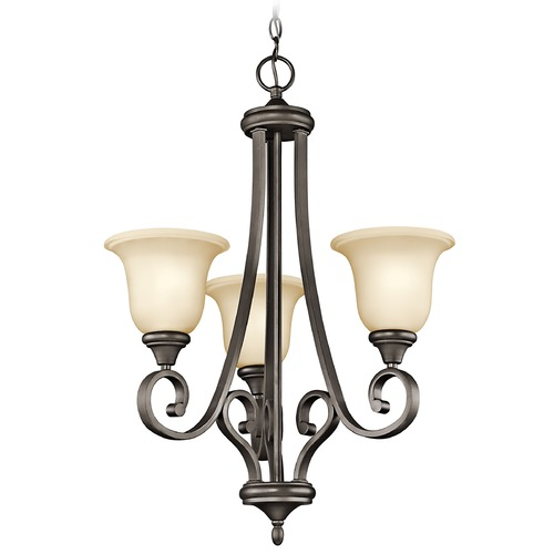 Kichler Lighting Kichler Chandelier with Amber Glass in Olde Bronze Finish 43155OZ