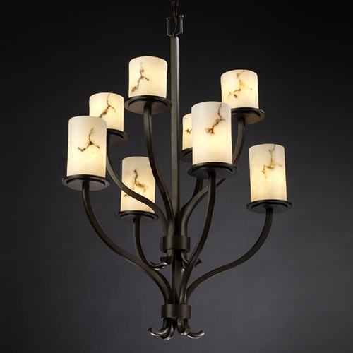 Justice Design Group Justice Design Group Lumenaria Collection Chandelier FAL-8788-10-DBRZ