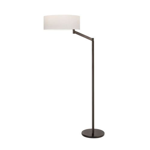 Sonneman Lighting Modern Swing Arm Lamp with White Shade in Coffee Bronze Finish 7083.27
