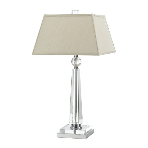 AF Lighting Modern Table Lamp with Beige / Cream Shade in Chrome Finish 8211-TL