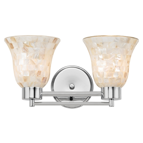 Design Classics Lighting Bathroom Light with Mosaic Glass in Chrome Finish 702-26 GL9222-M