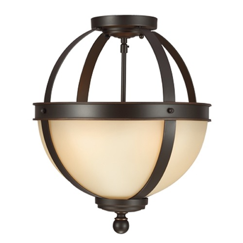 Sea Gull Lighting Sea Gull Lighting Sfera Autumn Bronze Semi-Flushmount Light 7790402BLE-715