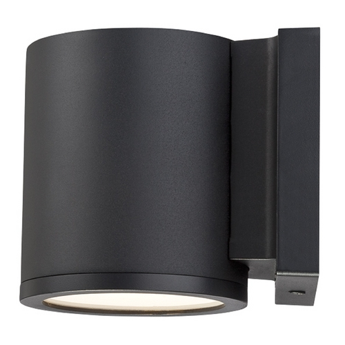 Modern Forms by WAC Lighting Modern Forms Tube Black LED Outdoor Wall Light WS-W2605-BK
