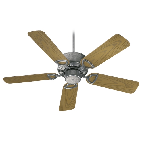 Quorum Lighting Quorum Lighting Estate Patio Galvanized Ceiling Fan Without Light 143425-9