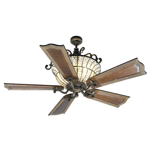 Craftmade Lighting Craftmade Lighting Cortana Peruvian Bronze Ceiling Fan with Light K10661