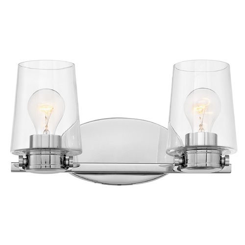 Hinkley Hinkley Branson 2-Light Chrome Bathroom Light with Clear Glass 5402CM