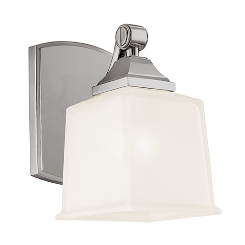 Hudson Valley Lighting Modern Sconce with White Glass in Satin Nickel Finish 2241-SN