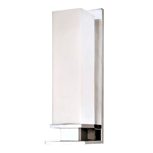 Hudson Valley Lighting Modern Sconce with White Glass in Polished Chrome Finish 520-PC