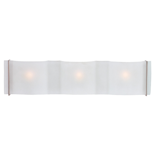 Access Lighting Modern Bathroom Light with White Glass in Brushed Steel Finish 62068-BS/FST
