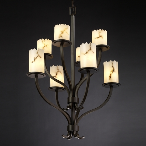 Justice Design Group Justice Design Group Lumenaria Collection Chandelier FAL-8788-12-DBRZ