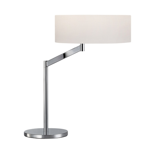 Sonneman Lighting Modern Table Lamp with White Shade in Polished Chrome Finish 7082.01