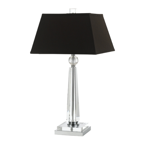 AF Lighting Modern Table Lamp with Brown Shade in Chrome Finish 8212-TL