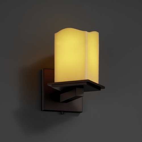 Justice Design Group Justice Design Group Candlearia Collection Sconce CNDL-8661-19-AMBR-DBRZ