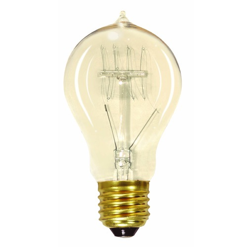 Satco Lighting Incandescent A19 Light Bulb Medium Base 120V by Satco S2419