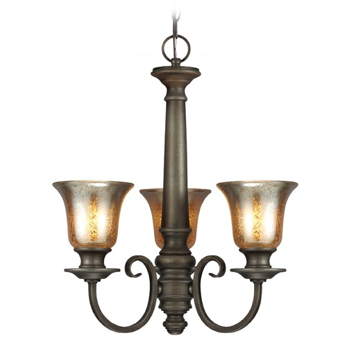 Sea Gull Lighting Sea Gull Lighting Blayne Platinum Oak Mini-Chandelier 3170403-736