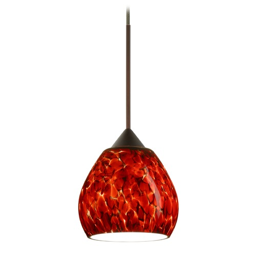 Besa Lighting Besa Lighting Tay Bronze Mini-Pendant Light with Bell Shade 1XT-560541-BR