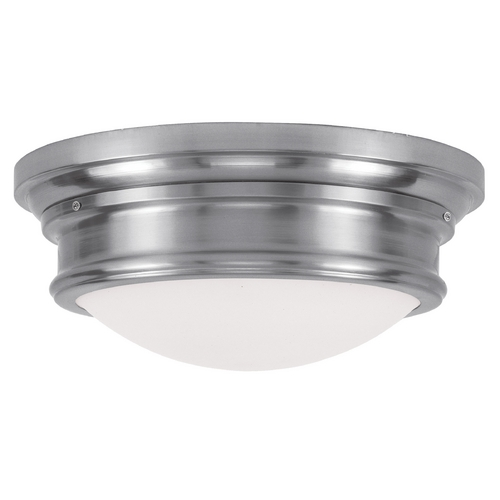 Livex Lighting Livex Lighting Astor Brushed Nickel Flushmount Light 7343-91