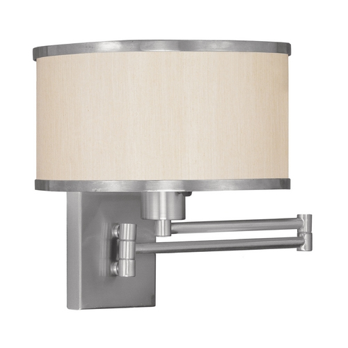 Livex Lighting Livex Lighting Park Ridge Brushed Nickel Swing Arm Lamp 6279-91