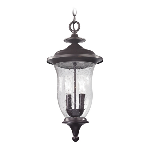 Thomas Lighting Seeded Glass Outdoor Hanging Light Oil Rubbed Bronze Thomas Lighting 8002EH/75