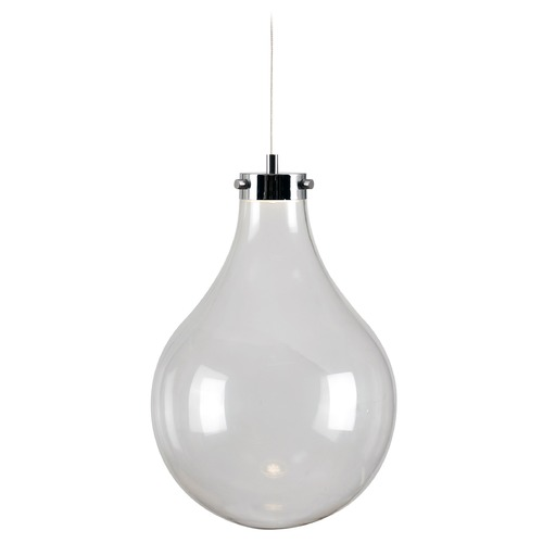 Kenroy Home Lighting Kenroy Home Lighting Vessel Chrome LED Mini-Pendant Light with Globe Shade 93415CH