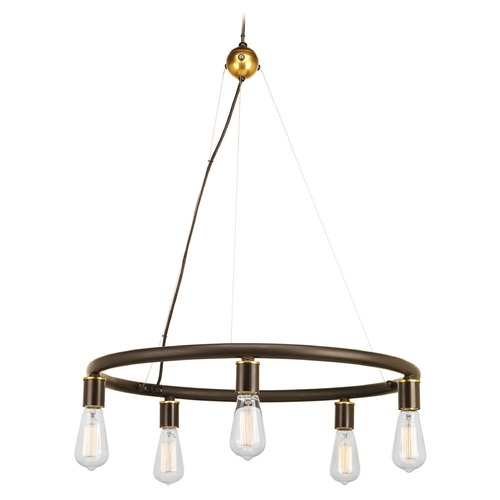 Progress Lighting Progress Lighting Swing Antique Bronze Chandelier P4744-20