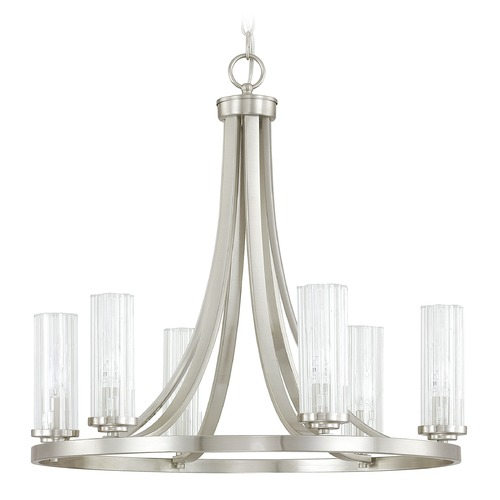 Capital Lighting Capital Lighting Emery Brushed Nickel Chandelier 4736BN-150